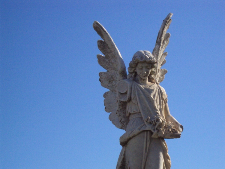 stone angel, angel statue, cemetery