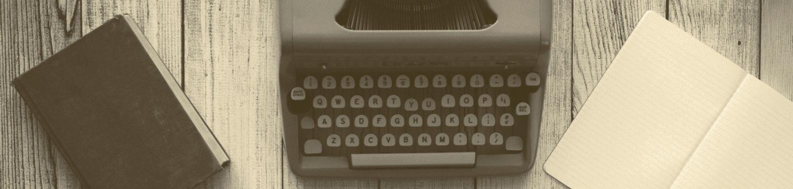 writing, typewriter, notebooks