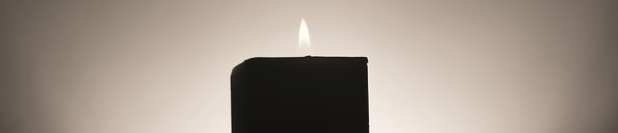 candle with flame header