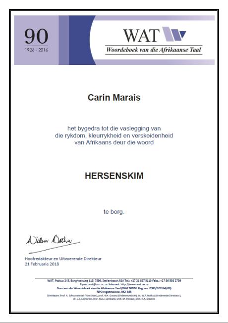 WAT certificate - hersenskim