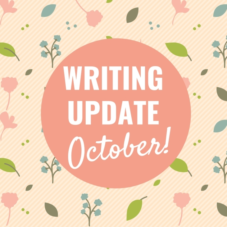 Blog header for October writing update
