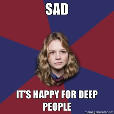 Doctor Who Sad it's happy for deep people meme