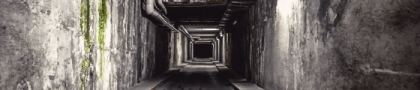 dark creepy tunnel