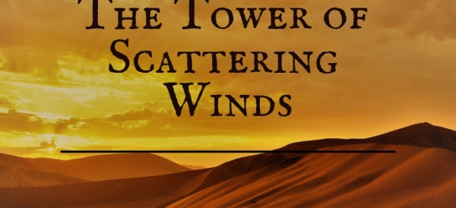 blog header with title showing sand dunes at sunset