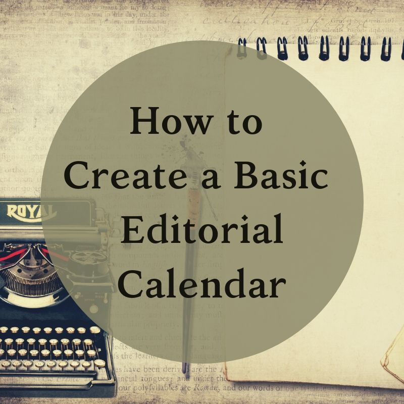 Blog header editorial calendar create